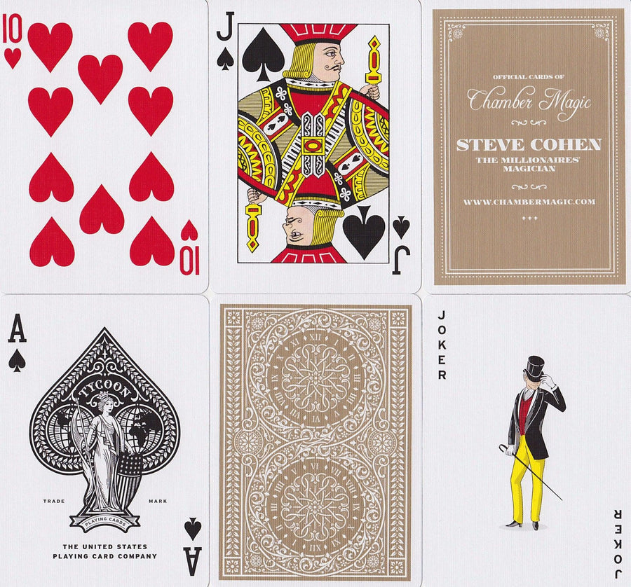 Tycoon, Ivory Edition Playing Cards by Theory11