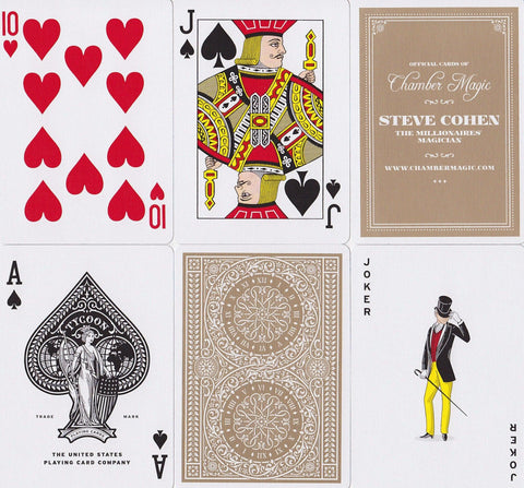 Tycoon, Ivory Edition Playing Cards - RarePlayingCards.com - 1