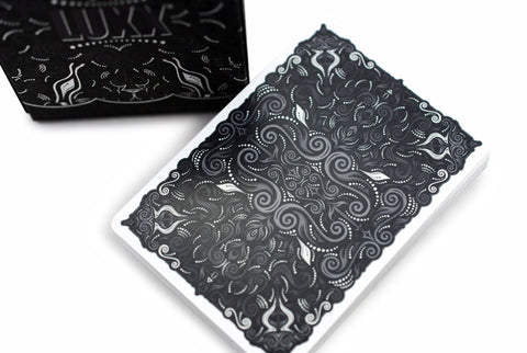V2 LUXX® Shadow Edition Silver Playing Cards