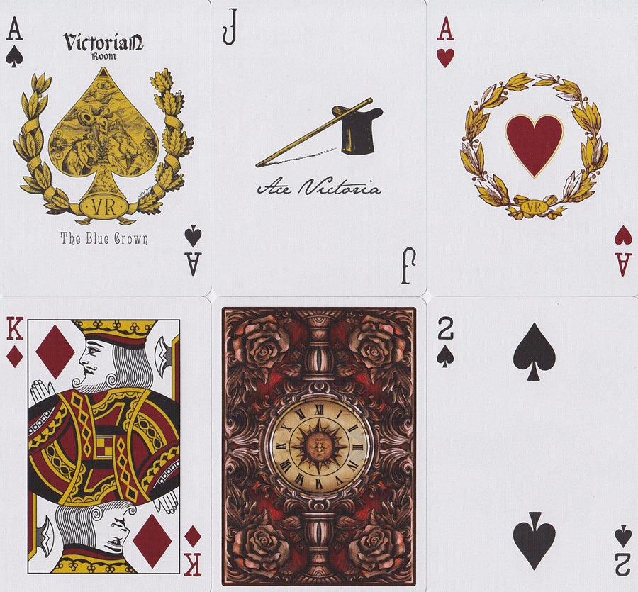 Victorian Room Playing Cards by The Blue Crown