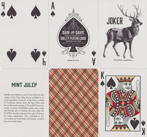 Vintage Plaid Playing Cards - RarePlayingCards.com - 1