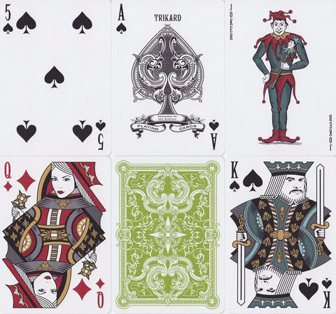 Viridian Playing Cards - RarePlayingCards.com - 1