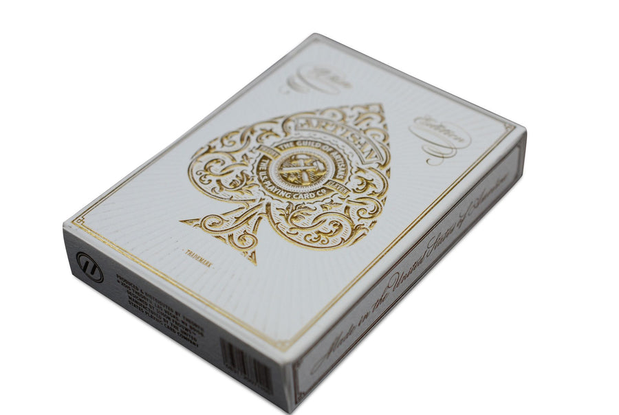White Artisans Playing Cards by Theory11