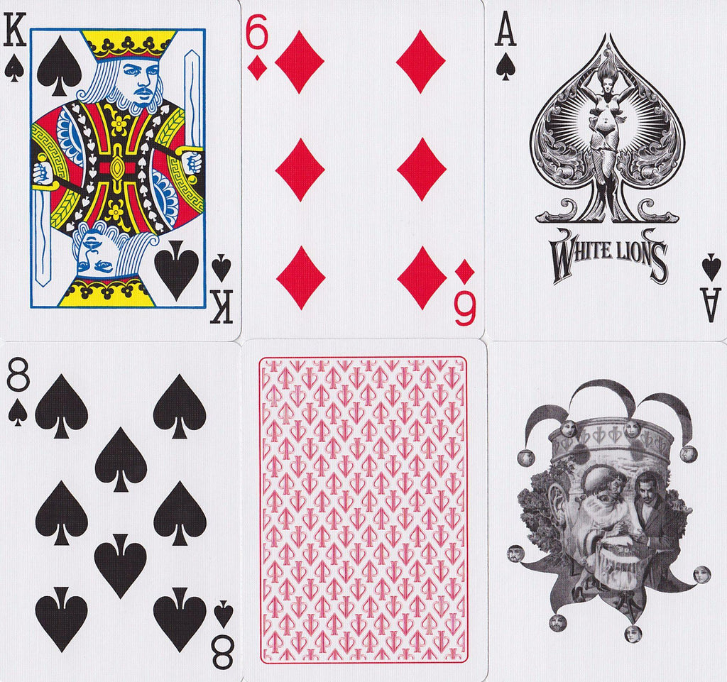 White Lions Playing Cards - RarePlayingCards.com - 10