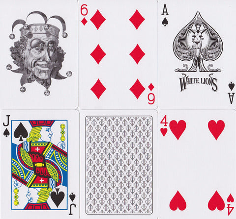 White Lions Playing Cards - RarePlayingCards.com - 1
