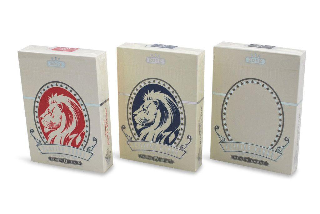 White Lions Playing Cards - RarePlayingCards.com - 2