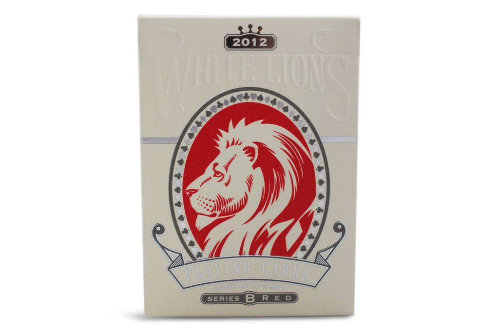White Lions Playing Cards - RarePlayingCards.com - 4