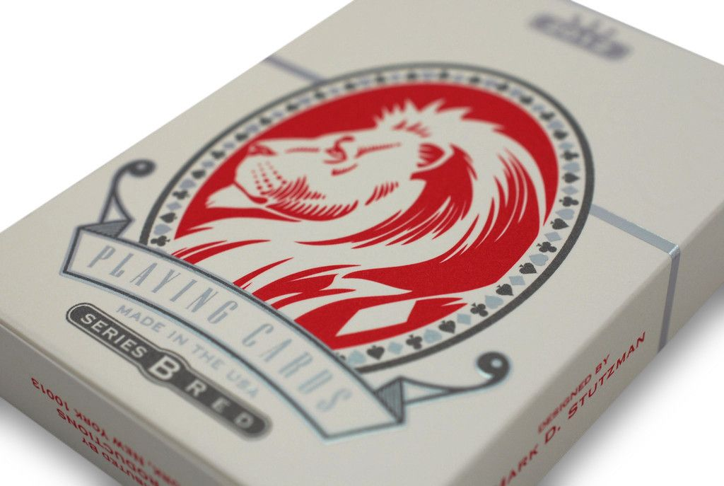 White Lions Playing Cards - RarePlayingCards.com - 5