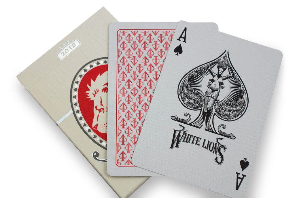 White Lions Playing Cards - RarePlayingCards.com - 9