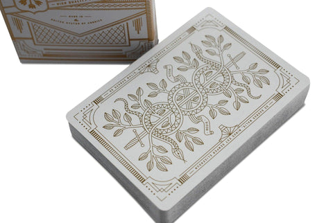 White Monarchs Limited Ed. Playing Cards - RarePlayingCards.com - 1
