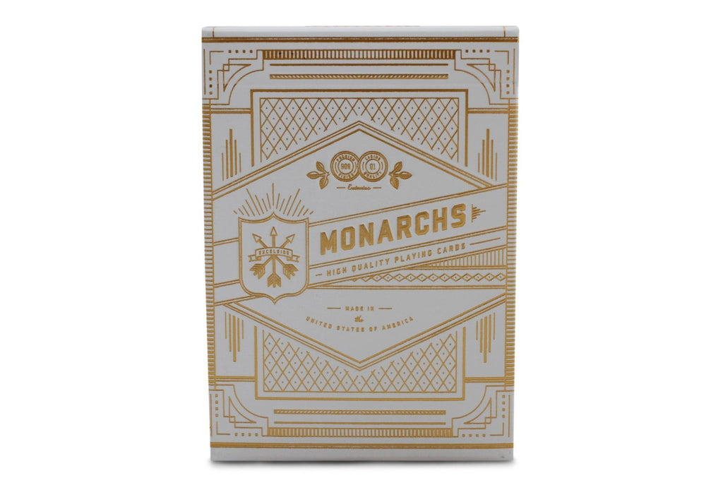 White Monarchs Limited Ed. Playing Cards - RarePlayingCards.com - 2