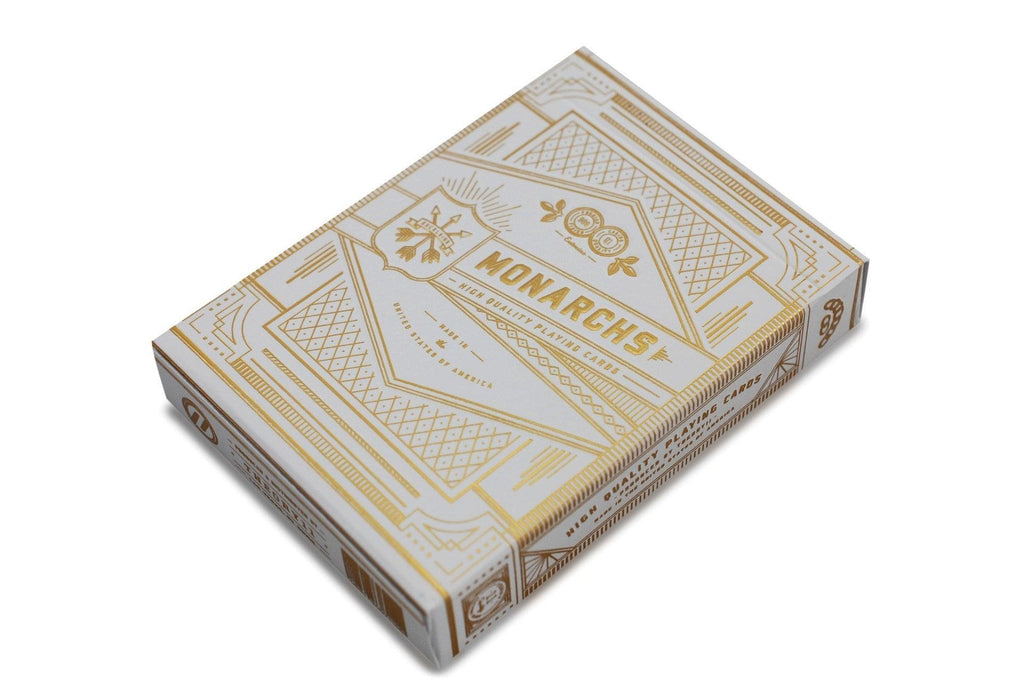 White Monarchs Limited Ed. Playing Cards - RarePlayingCards.com - 4