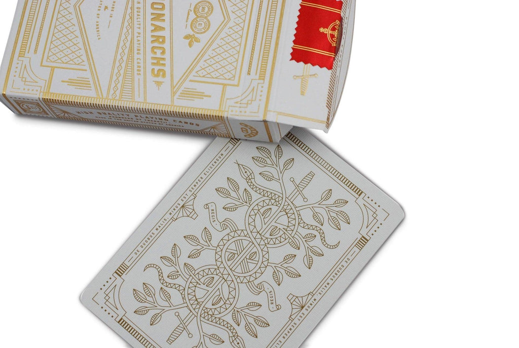 White Monarchs Limited Ed. Playing Cards - RarePlayingCards.com - 5