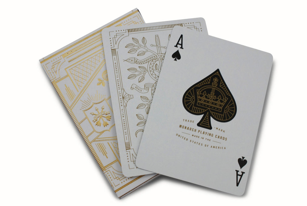 White Monarchs Limited Ed. Playing Cards - RarePlayingCards.com - 8