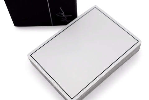 White NOC Playing Cards - RarePlayingCards.com - 1
