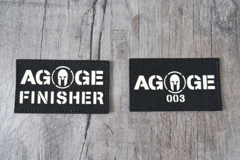 Spartan Agoge Finisher & 003 Patch by Spartan Village ( MADE IN USA )