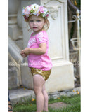 Sequin Bloomers - Black, Blush, Gold
