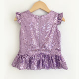Sequin Mermaid Peplum Top