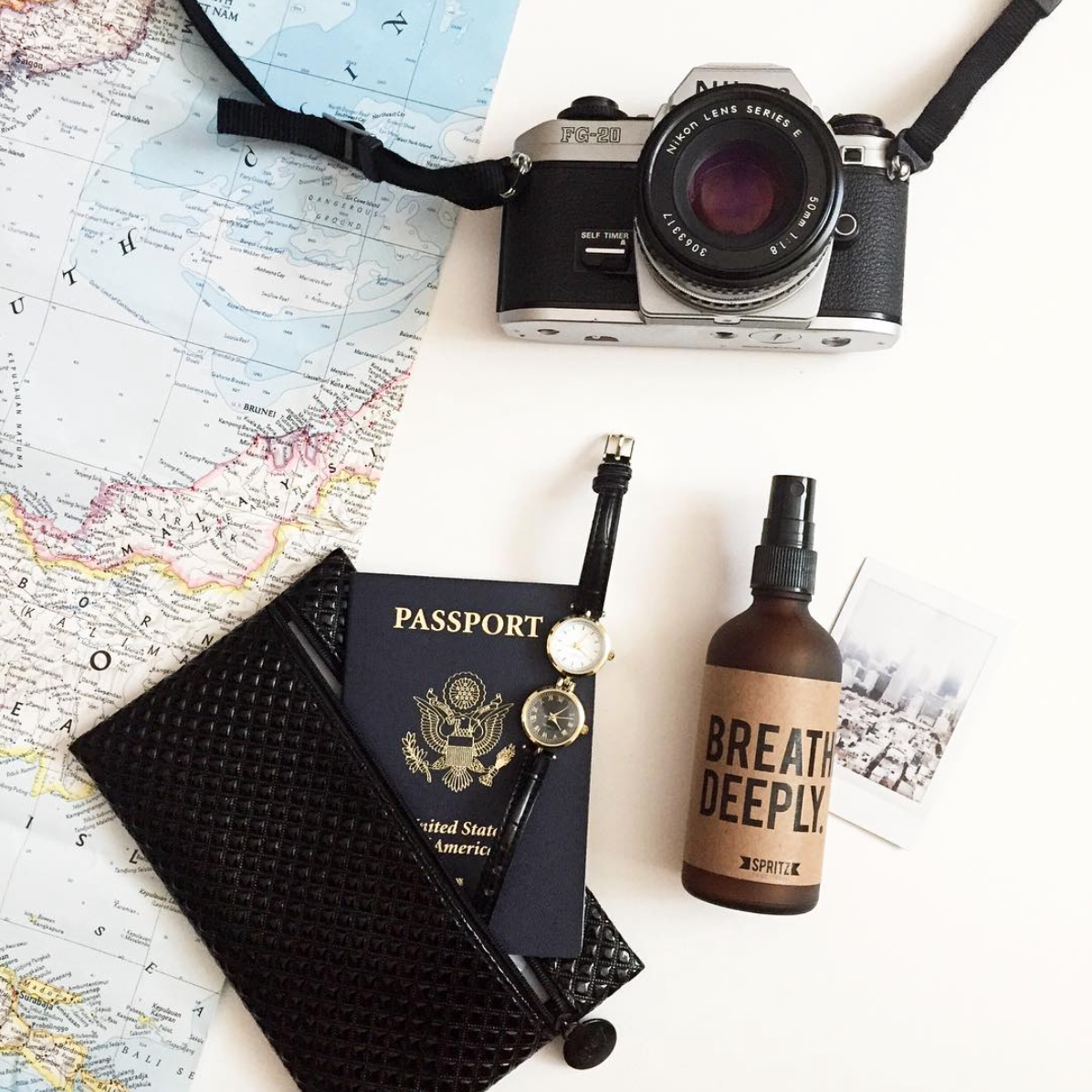 Happy Spritz Breathe Deeply - Peppermint + Eucalyptus is a travel essential.