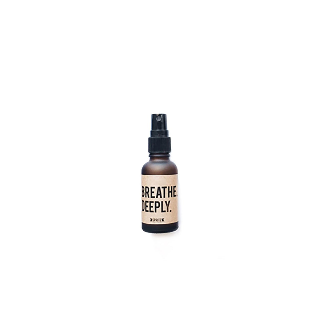 Mini Breathe Deeply Eucalyptus + Peppermint Essential Oil Spray by Happy Spritz