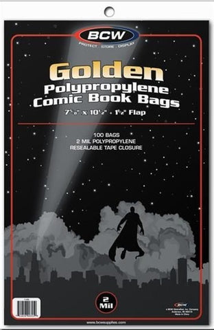BCW Golden Age Comic Bags