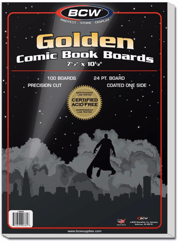 BCW Golden Age Comic Backing Boards