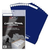 BCW Comic Divider - Blue (Pack of 25)