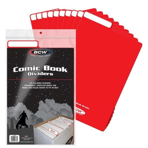 BCW Comic Divider - Red (Pack of 25)