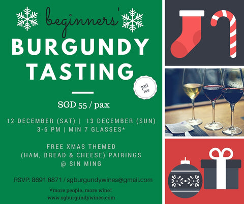 Christmas Wine Tasting | SG Burgundy Wines
