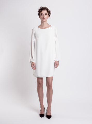 SHOULDER DRESS (White)
