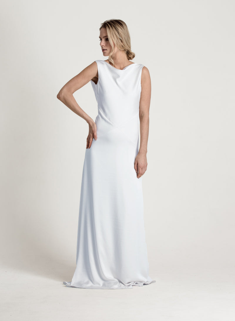 IVY EVENING DRESS ICE WHITE