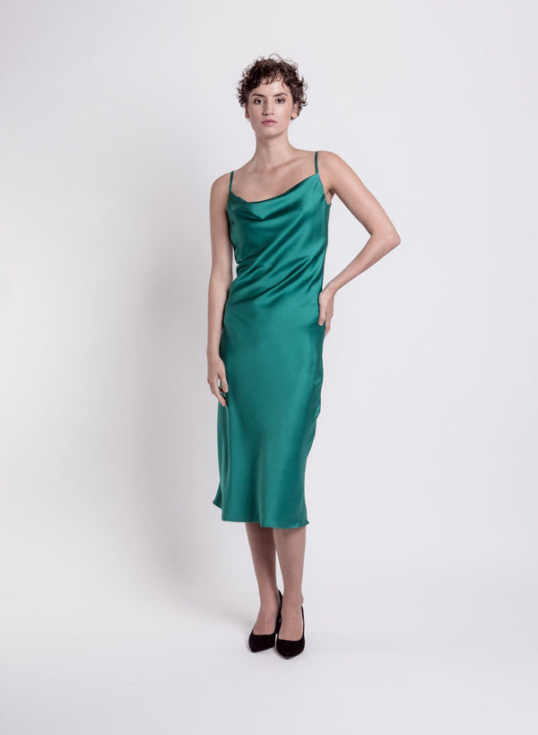 WAVE COCKTAIL DRESS GREEN