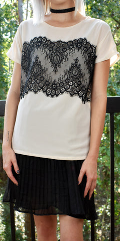 Eternally Young Cream Lace Top - US S - Limited