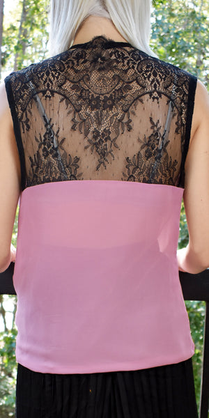 Innocent Rose Pink Lace Top