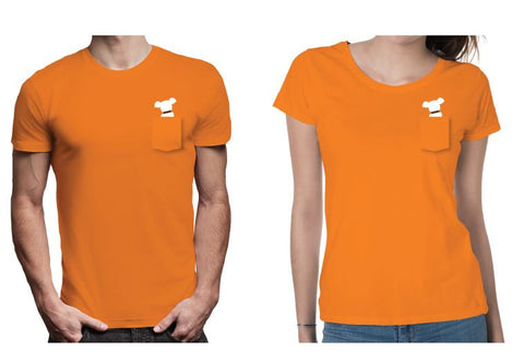 DOGTV - Logo shirt orange  (new design!)
