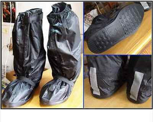 Rain Shoes Cover High Quality - Velcro over zip & Solid Base.