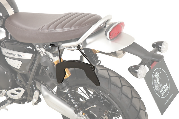 Triumph Scrambler 1200 XE  / XC Carrier - Sidecases 'C-Bow' (Left Side, Black).