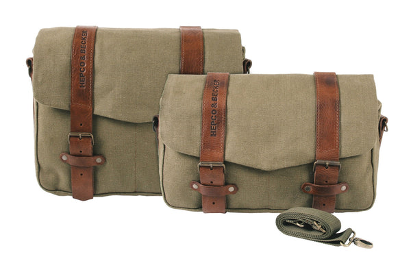 Courier bag Legacy Series (Canvas + Leather) - Motousher