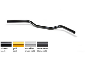 Handlebar 25.4mm Clubman Bar W/WO Slots- AS1 | Aluminium | 4 colours | (1Inch) - Motousher