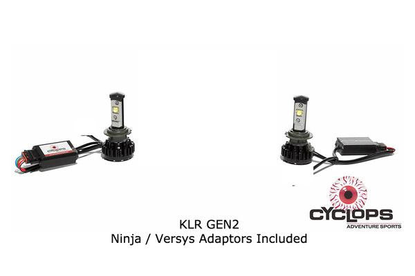 Kawasaki Versys 650 Bulb - LED H7 4000 (each) Lumen Headlight - Motousher
