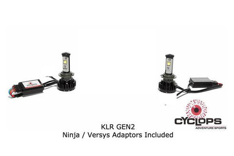 Kawasaki Versys 650 Bulb - LED H7 8000L Headlight Cyclops (2pc)