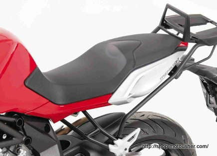 MV-AGUSTA Brutale 675 & 800 Topcase carrier - Fixed Hinge (Alu Rack)