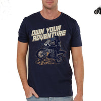 Adventure T-Shirts printed -BLUE