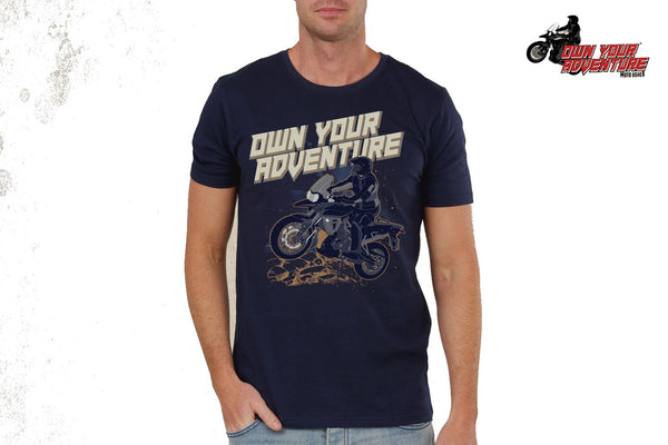 Adventure T-Shirts printed -BLUE.