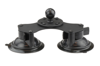 "RAM Base Car - Twist-Lock Dual Suction Cup Base with Ball 1"" - Motousher"