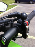 "RAM Base - Motorcycle Combination Base for Handlebar or Brake/Clutch Reservoir with 1"" Ball RAM Mount."