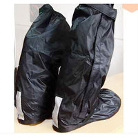 Rain Shoes Cover High Quality - Velcro over zip & Solid Base - Motousher
