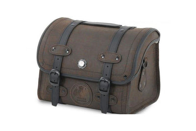 Small Leather bag 25L Rugged Brown