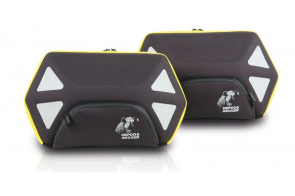 Soft Side Cases 22L Each - Royster (Black Yellow) - Motousher