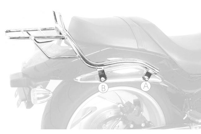 Suzuki M1800R Intruder Topcase carrier Tube Type - Chrome